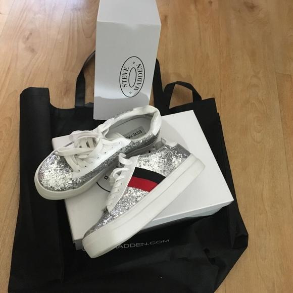 Steve Madden Shoes | New Silver Glitter